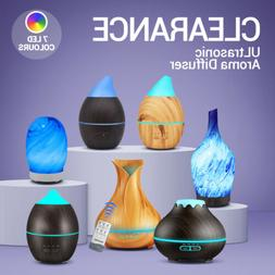 led purifier aromatherapy ultrasonic air diffuser oil