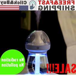 LED USB Scent Air Humidifier Aroma Oil Essential Diffuser fo