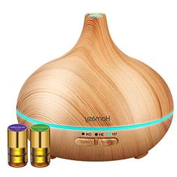 Homasy Essential Oil Diffuser, 150ml Mini Wood Grain Aroma D