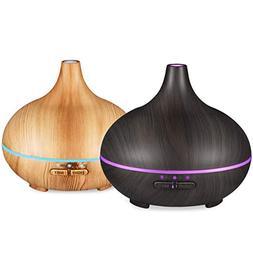 VicTsing 150ml Essential Oil Diffuser , Wood Grain Cool Mist