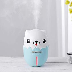 ANBOO Mini Humidifier,3 in 1 Air Purifier Portable USB Humid