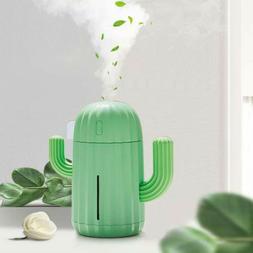 Mini Humidifier With Night Light Portable Cactus Air Humidif