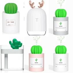 Mini Size Cactus USB Cool Mist Humidifier 280ml 50ml/h with