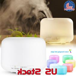 Mist Humidifier Essential Oil 500ml Diffuser with Timer Sett