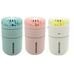New design 3-in 1 rechargeable small table humidifying fan w