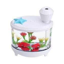 Novel Fish Tank LED Night Light Household Ultrasonic Air Hum