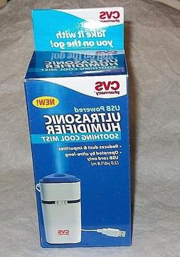 CVS Pharmacy USB Powered Ultrasonic Humidifier Cool Mist Soo