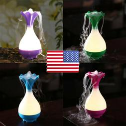 portable 95ml usb air humidifier led light