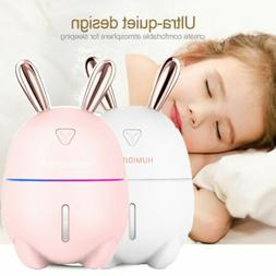 Portable Mini Cool Mist Ultrasonic Air Humidifier Light Home