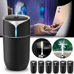 Portable Mini Humidifier Car Home USB LED Lamp Aroma Diffuse
