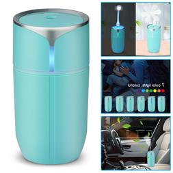Portable USB LED Light Air Humidifier Diffuser Aroma Mist Pu