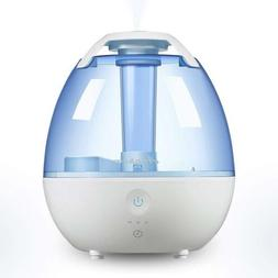 Quiet Cool Humidifier – 0.5 gallon/2L Ultrasonic Air with