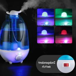 Quiet Ultrasonic Cool Mist Air Diffuser Humidifier w LED Nig