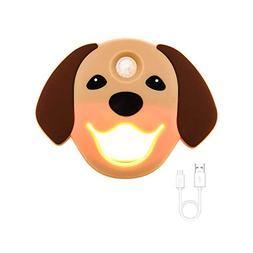 Sensor Night Light, Doggy Faceplate on/Off, Stick Anywhere,