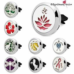 Stainless steel  Locket  Air Freshener Essential Oil car ven
