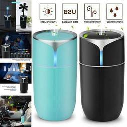 LED Ultrasonic Humidifier Essential Diffuser Mini USB Air Ne