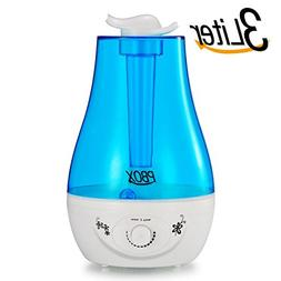 Ultrasonic Cool Mist Humidifier - Whisper Quiet with LED Nig
