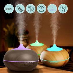 Ultrasonic Humidifier Essential Oil Diffuser Aromatherapy LE