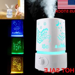 US Essential Oil Aroma Diffuser colorful lights LED Ultrason