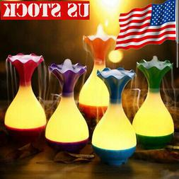 USA Portable 95ml USB Air Humidifier LED Light Essential Oil