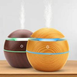 USB Aroma Humidifierl Mist Diffuser Air Purifier 7 Color LED