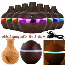 USB Essential Oil Aroma Diffuser 7 Colour LED Ultrasonic Hum