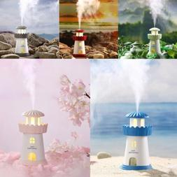 USB Lighthouse Humidifier LED Nightlight Air Purifier for Ho
