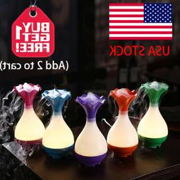 USB Ultrasonic Air Humidifier Diffuser with LED Light Mist S