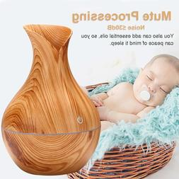 USB Wood Grain Humidifier Essential Oil Diffuser Aromatherap
