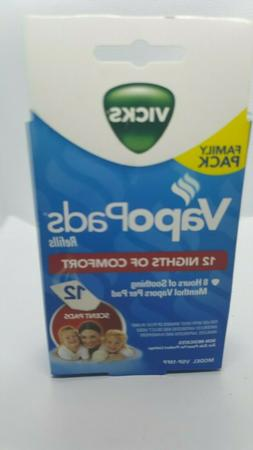 Vicks VapoPads Refills 12 Menthol Vapors Scent Pads