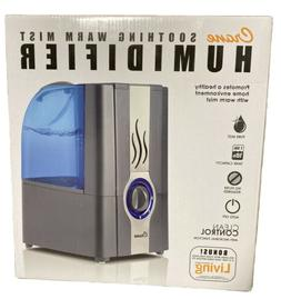 Crane USA Warm Cool Mist Humidifier, 1 Gallon, Gray, 1 ea