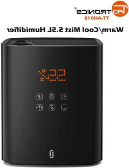 TaoTronics Warm Cool Mist Humidifier 5.5L Top Fill Large Roo