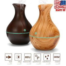 Wood 130ml Aroma Essential Oil Diffuser Grain Ultrasonic Aro